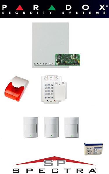 Sistem de alarma cablat cu 3 senzori pentru apartament Paradox SA-13-C3