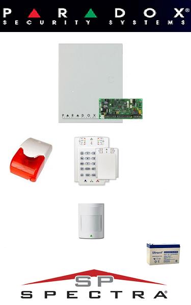 Sistem de alarma cablat pentru apartament Paradox (un senzor)