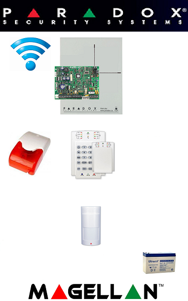 Sistem de alarmă wireless cu 1 senzor pentru apartament Paradox SA-17-W1