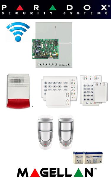 Sistem de alarma wireless cu 2 senzori pentru exterior casă Paradox SA-23-W2