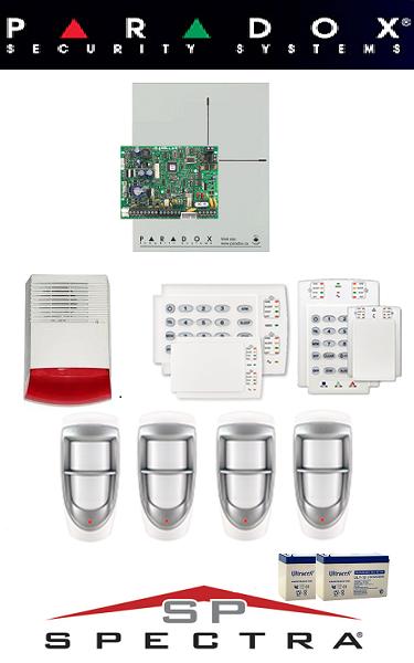 Sistem de alarma cablat cu 2 senzori pentru casă de exterior Paradox SA-20-C2
