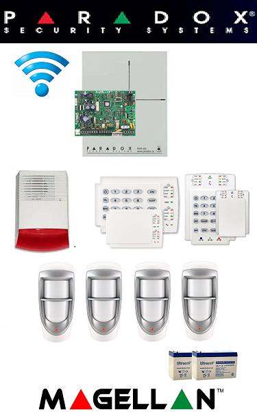 Sistem de alarma wireless pentru casă de exterior Paradox (doi senzori)