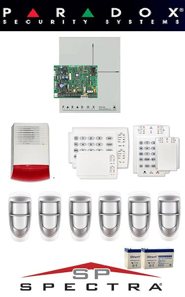 Sistem de alarma cablat pentru casă de exterior Paradox (doi senzori)