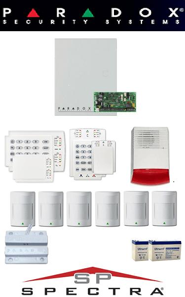 Sistem de alarma cablat cu 6 senzori pentru casă Paradox SA-28-C6