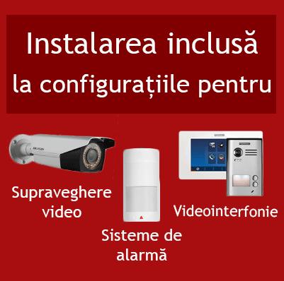 Instalarea inclusa la sistem de alarma sistem video si videointerfon