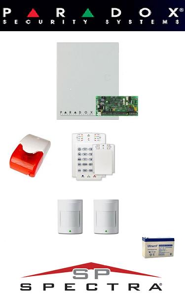 Sistem de alarma cablat cu 2 senzori pentru apartament Paradox SA-12-C2
