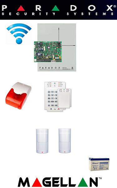 Sistem de alarmă wireless cu 2 senzori pentru apartament Paradox SA-18-W2