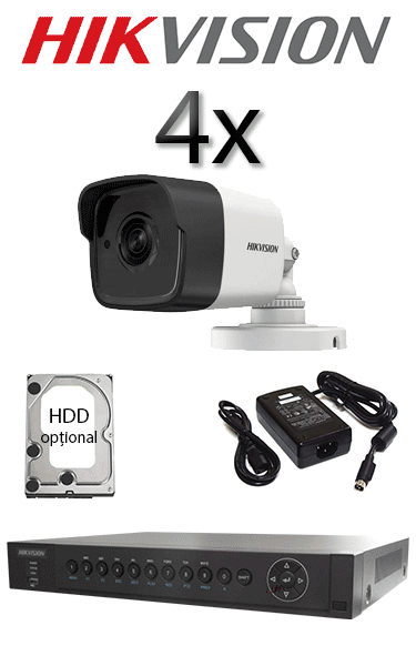 Kit sistem video exterior cu 2 camere HD HIKVISION