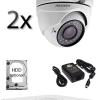 Kit sistem video Dome cu 2 camere HD HIKVISION SV-86-I2