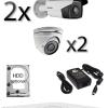 Kit sistem video exterior cu 2 camere HD HIKVISION SV-66-E2