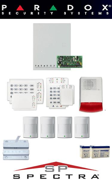 Sistem de alarma cablat cu 4 senzori pentru casă Paradox SA-26-C4