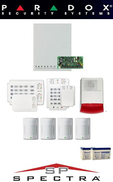 Sistem de alarma cablat pentru casă Paradox (patru senzori)