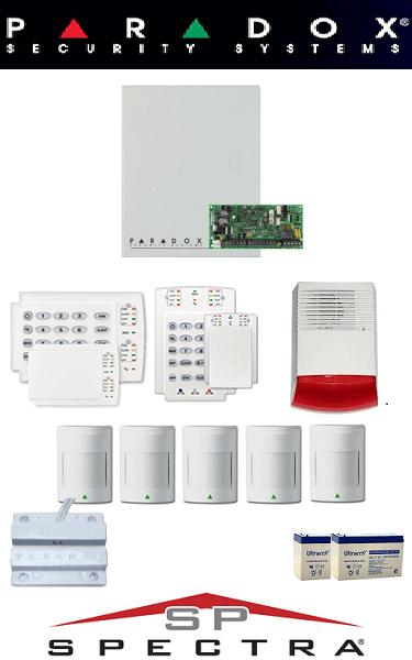 Sistem de alarma cablat cu 5 senzori pentru casă Paradox SA-27-C5