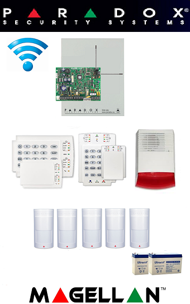 Sistem de alarmă wireless pentru casă Paradox (cinci senzori)