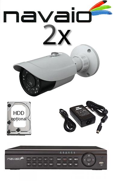 Kit sistem video exterior cu 2 camere HD HIKVISION