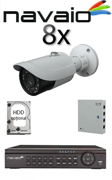 Kit sistem video Dome cu 2 camere HD HIKVISION SV-86-I2