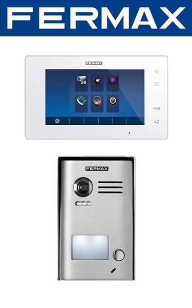 Kit videointerfon Fermax cu un post și un monitor pentru o familie
