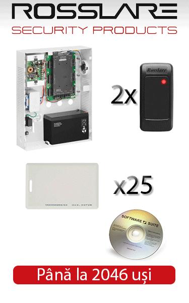 Sistem de control acces și automatizare pentru o ușă bidirecțională ROSSLARE