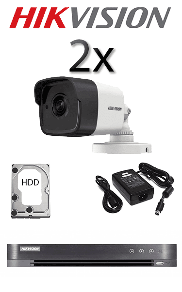 Kit sistem video exterior cu 2 camere FULL HD HIKVISION SV-67-E2