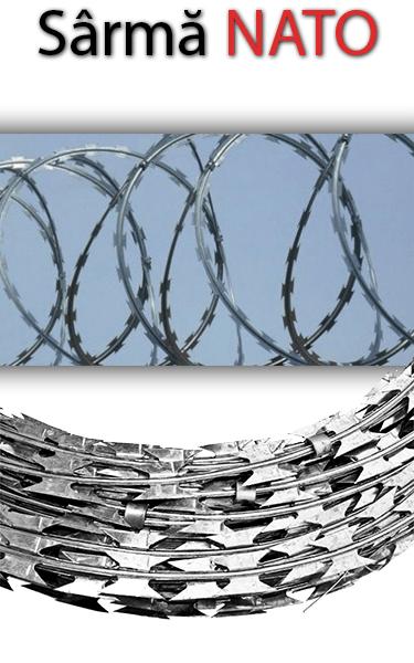 Sârmă NATO pentru protecție perimetrală