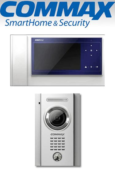 Kit videointerfon Commax cu un post de apel și un monitor LCD de 7″ tip doi VI-215-I1