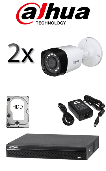 Kit sistem video de exterior cu 2 camere HD DAHUA SV-71-E2