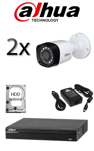 Kit sistem video de exterior cu 2 camere HD DAHUA SV-71-E2