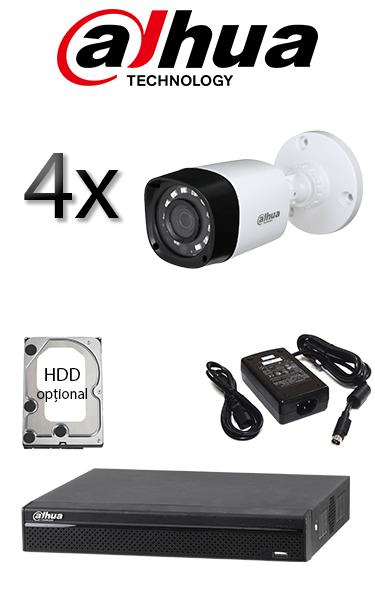 Kit sistem video de exterior cu 2 camere HD DAHUA