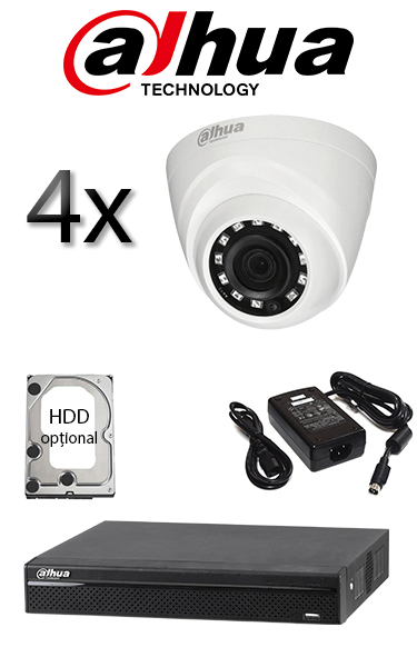 Kit sistem video de exterior cu 2 camere HD DAHUA