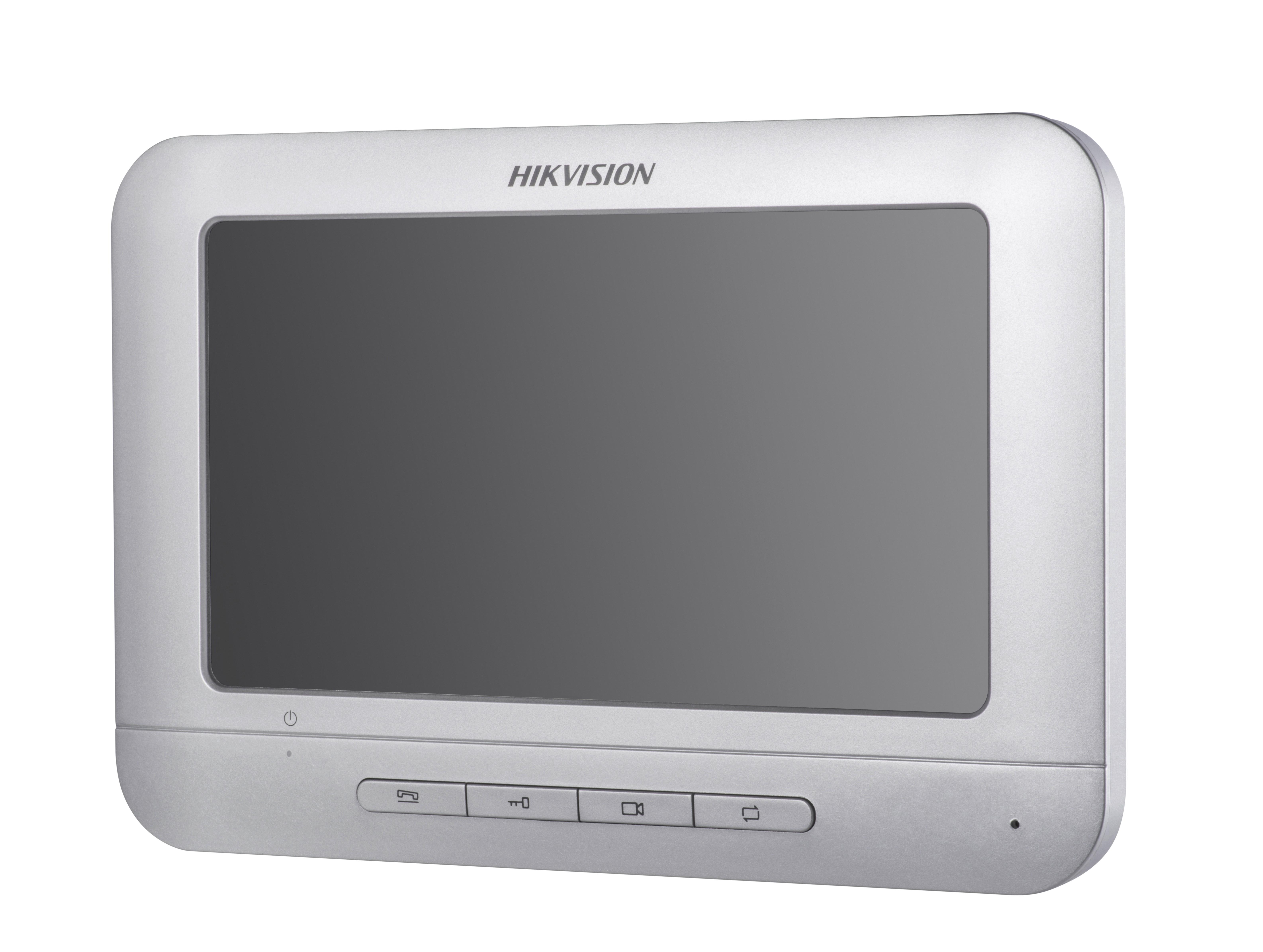 "Kit videointerfon Hikvision cu post exterior de aluminiu cu infrarosu, post interior LCD TFT 7"""