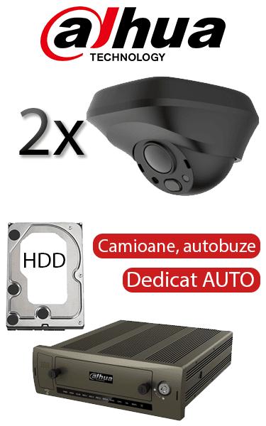 Sistem de supraveghere video Auto FULL HD, dedicat pentru camioane, autobuze, microbuze, semidom, vizualizare prin internet Dahua SV-51-AUTO