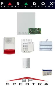 Sistem de alarma cablat cu 1 senzor, contact magnetic, sirenă exterior, baterie pentru apartament Paradox SA-40-C1