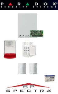 Sistem de alarma cablat cu 2 senzori, sirenă exterior, baterie pentru apartament Paradox SA-41-C2