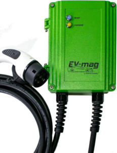 Stație de încărcare mașină electrică trifazată, 22KW, montaj stativ, mufă type 1