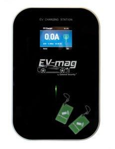 Stație de încărcare mașină electrică monofazată, 7KW, montaj perete, RFID, priză type 2