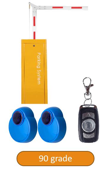 Barieră de acces, brat 5 metrii, senzori IR, telecomanda BAR-5-90-IR