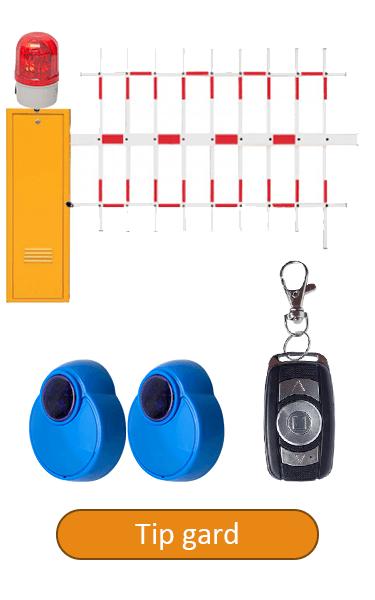 Barieră de acces, brat 4 metri tip gard, senzori IR, telecomanda BAR-4-GD-IR
