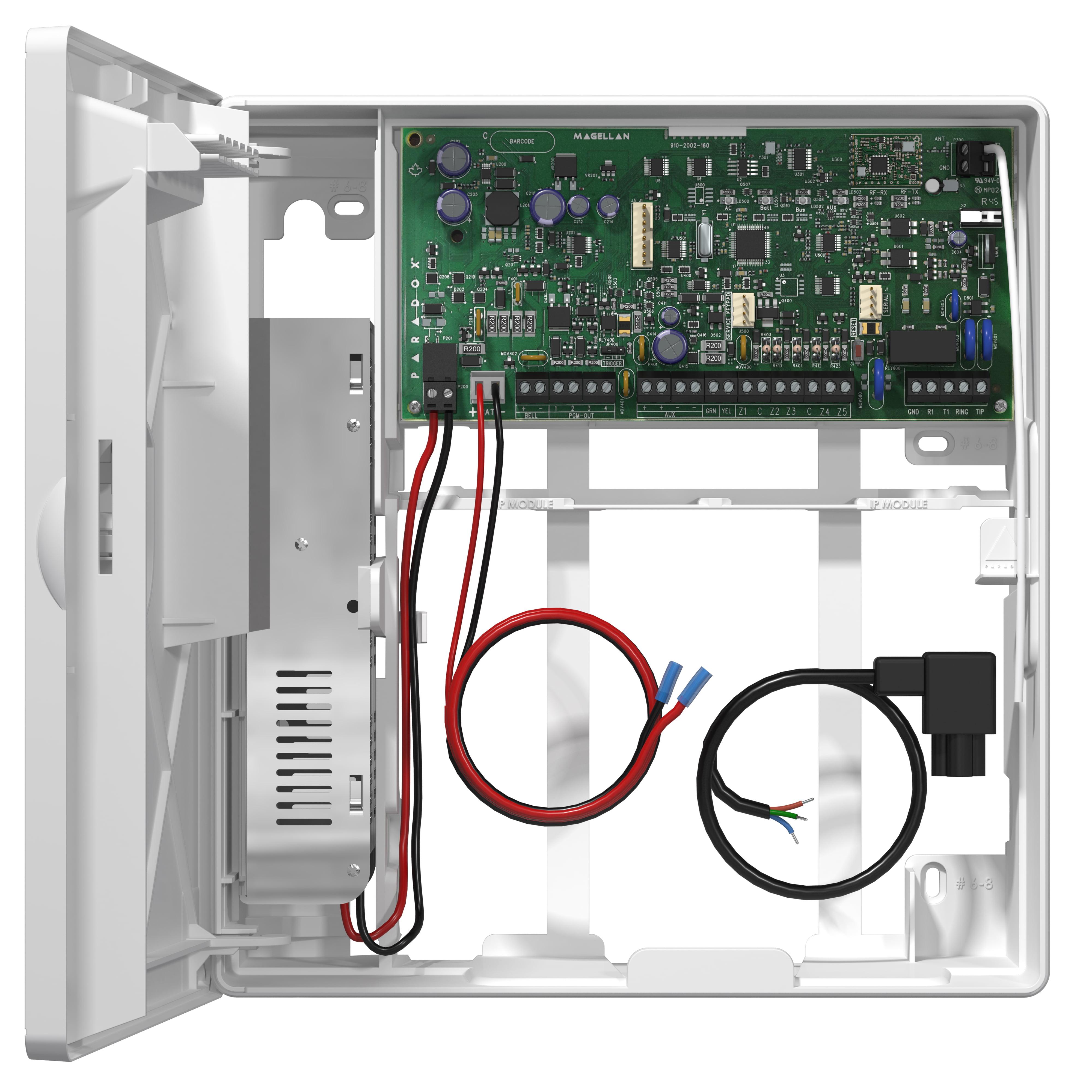Sistem alarmă fără fir cu 2 senzor de mișcare wireless, modul GSM internet, sirenă radio, tastatură LCD radio, telecomandă, compatibil firmă pază PA-O5-W2
