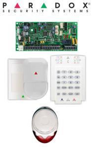 Sistem de alarmă Wireless cu 1 senzor de mișcare, tastatură și sirenă de interior Paradox SA-O1-W