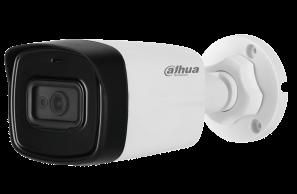 Sistem video de exterior cu 8 camere bullet, complet, microfon încorporat, 80 metri IR, HDD 1TB 4K UHD DAHUA SV-DH-8M8-B