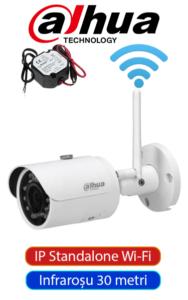 Cameră IP Standalone, 4MP, dome interior, funcționează direct, fără fir wireless, aplicație mobilă, infraroșu 30 metri Dahua DH-ST-02