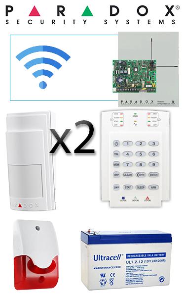 Sistem de alarmă wireless cu 2 senzori pentru apartament Paradox SA-17-W2